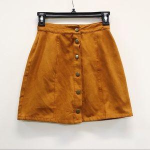 Arizona Suede Button Up Skirt